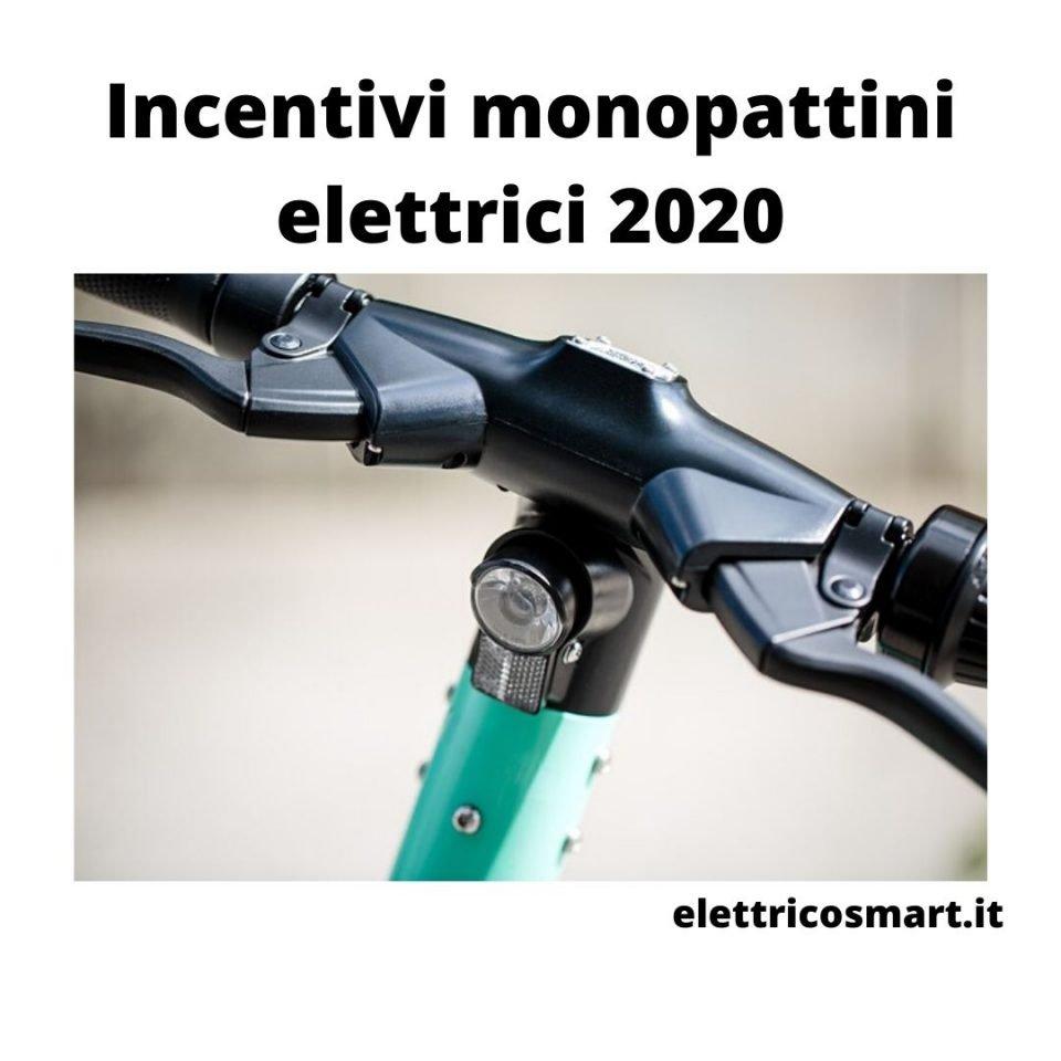 incentivi monopattini elettrici 2020 coronavirus covid 19 come usufruirne