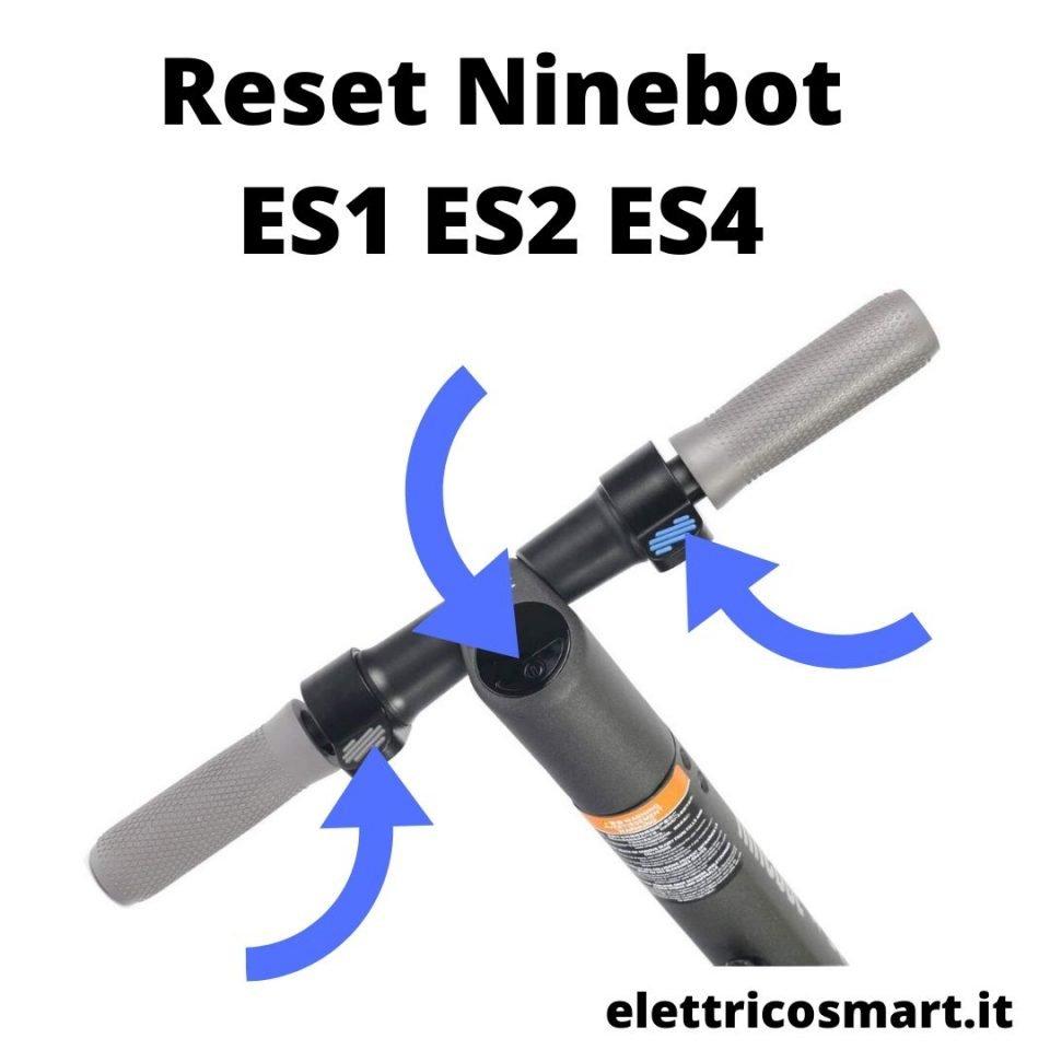 istruzioni su come effettuare il reset del ninebot ES2 ES2 ES4