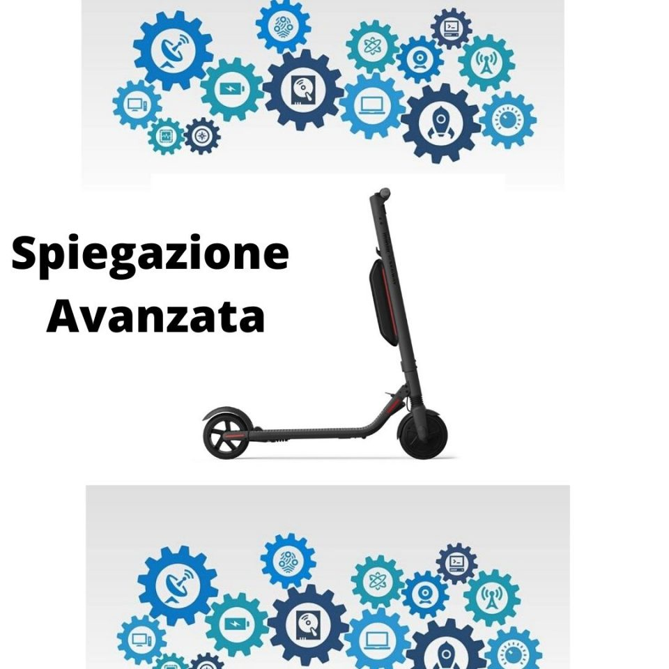 immagine infografica come funziona un monopattino elettrico guida avanzata esperti