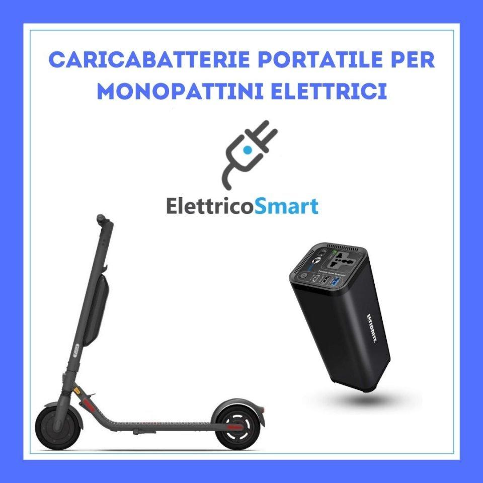 caricabatterie portatile monopattino elettrico powerbank copertina