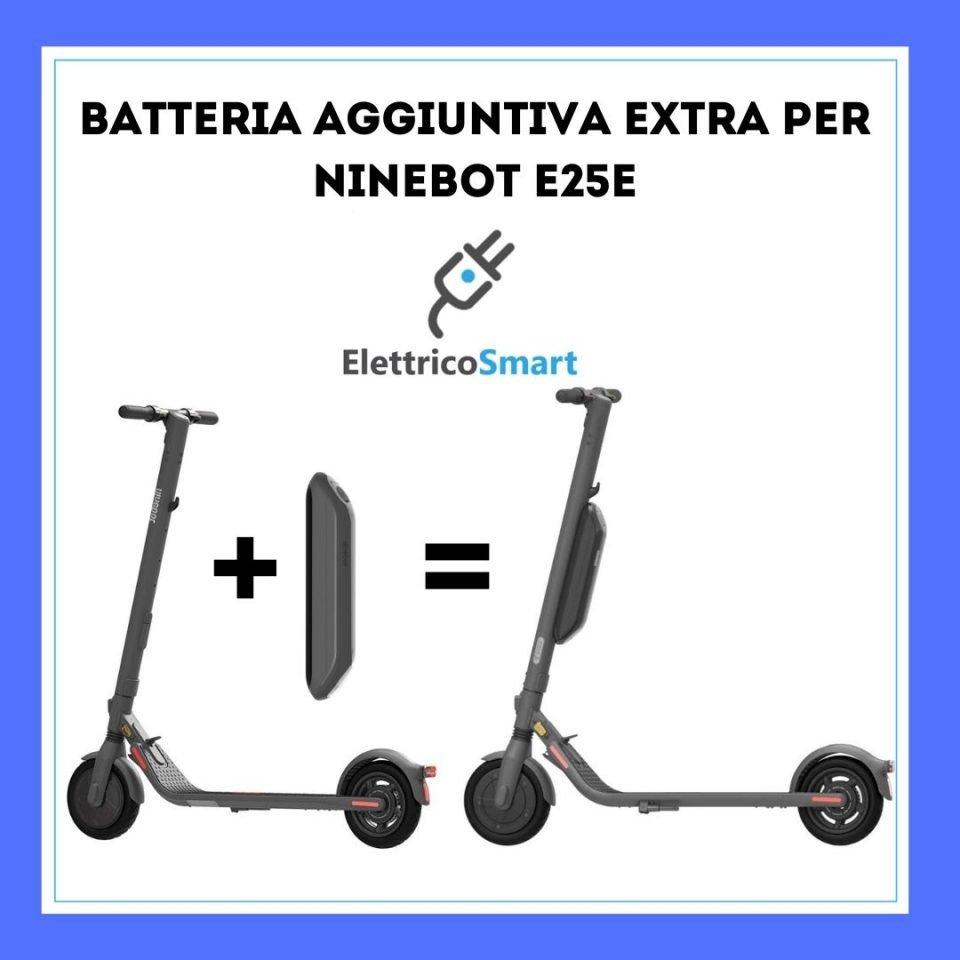 batteria aggiuntiva ninebot e25e copertina differenze elettricosmart