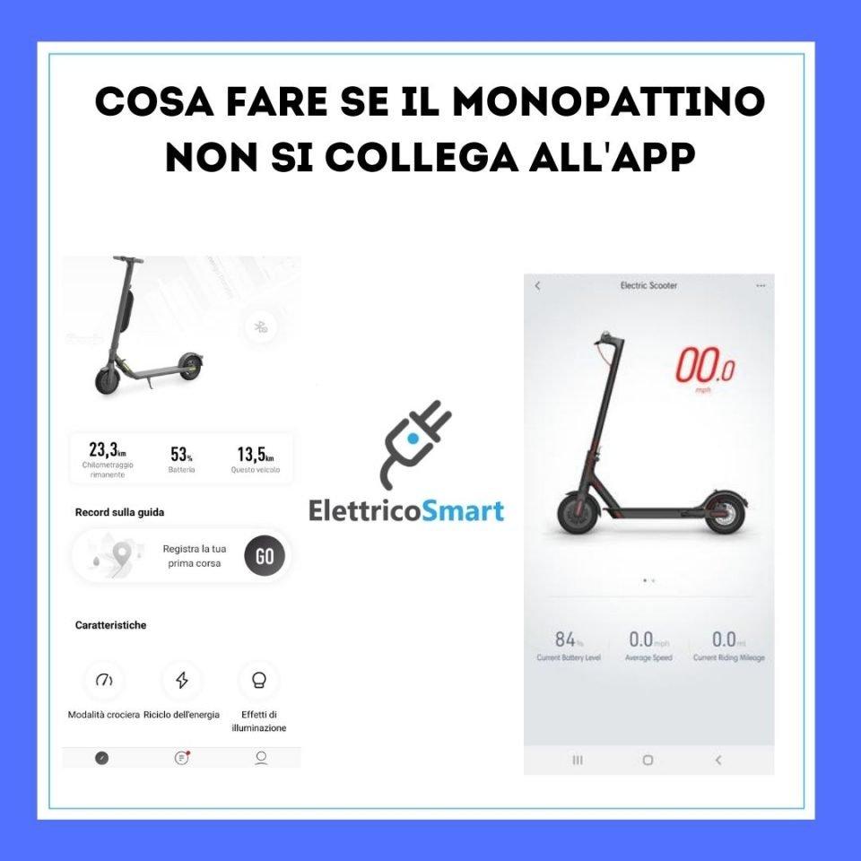 cosa fare se il monopattino non si connetta ad app e smartphone copertina elettricosmart