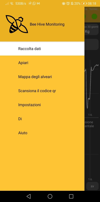 schermata app configurazione bilancia per api