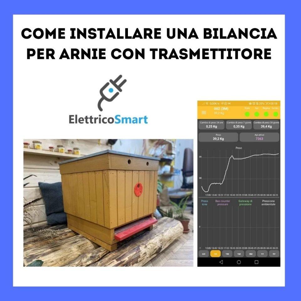 come installare una bilancia per arnie con trasmettitore elettricosmart guida tutorial copertina
