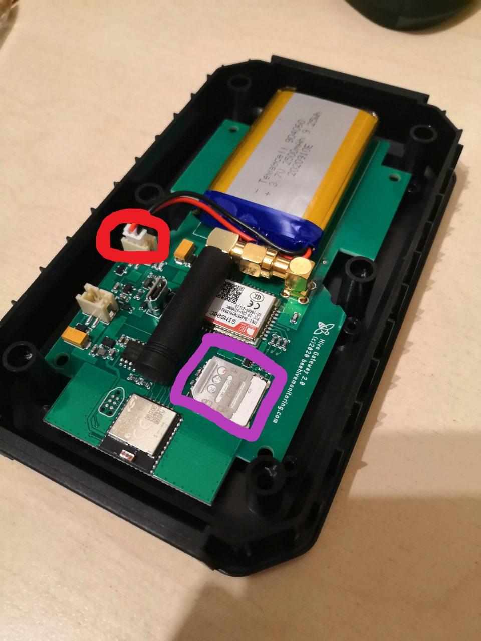 controller gsm aperto con indicazioni