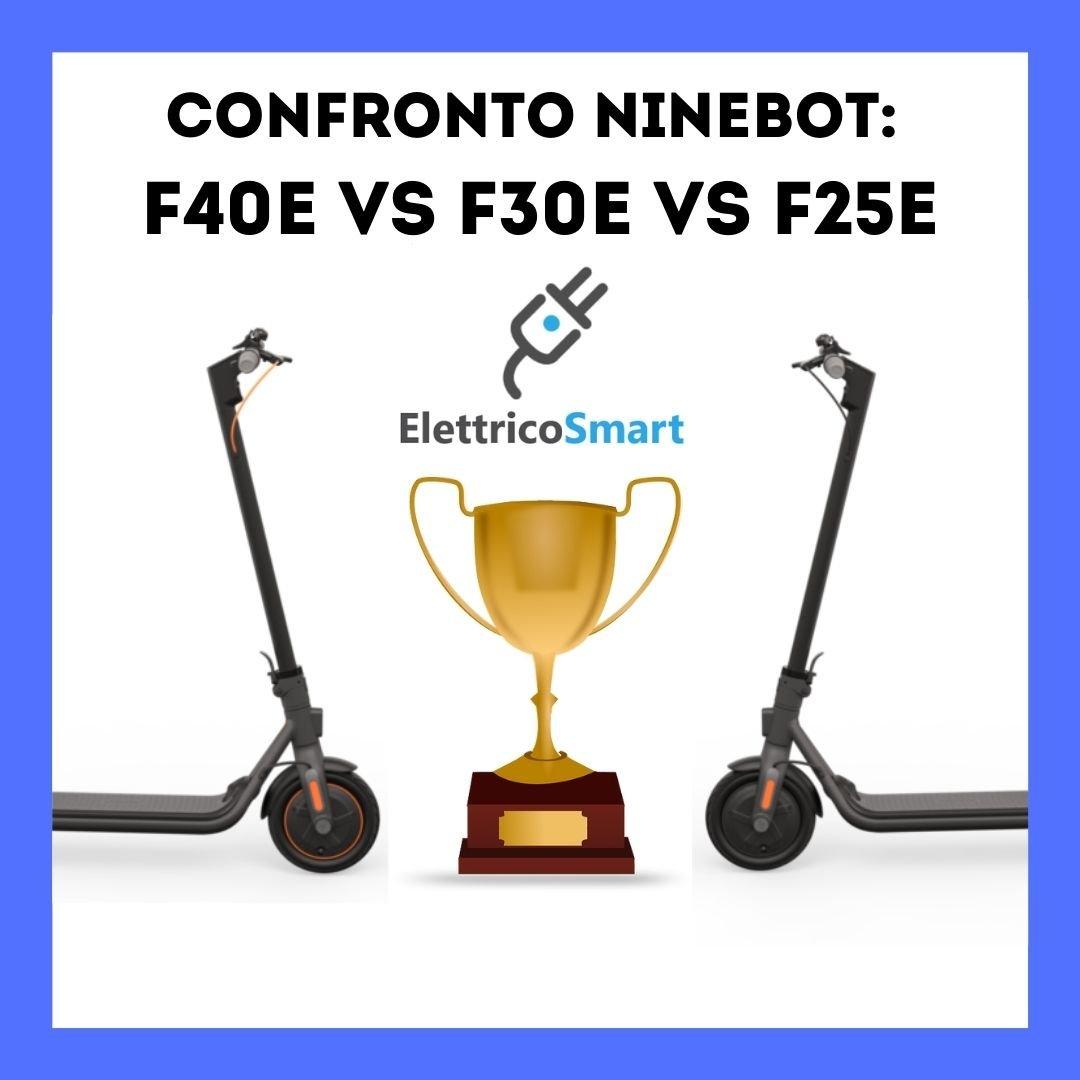 confronto ninebot segway f25e f30e f40e