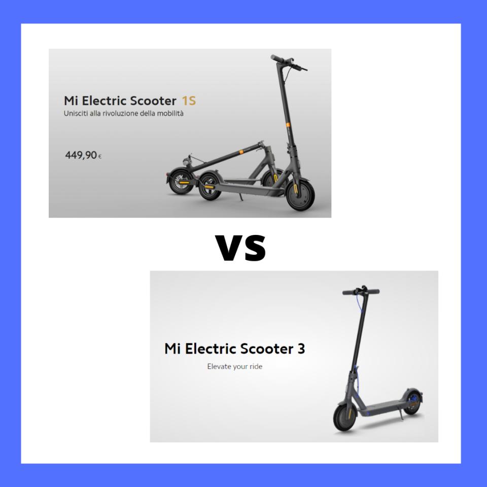 xiaomi scooter 1s vs xiaomi scooter 3 confronto