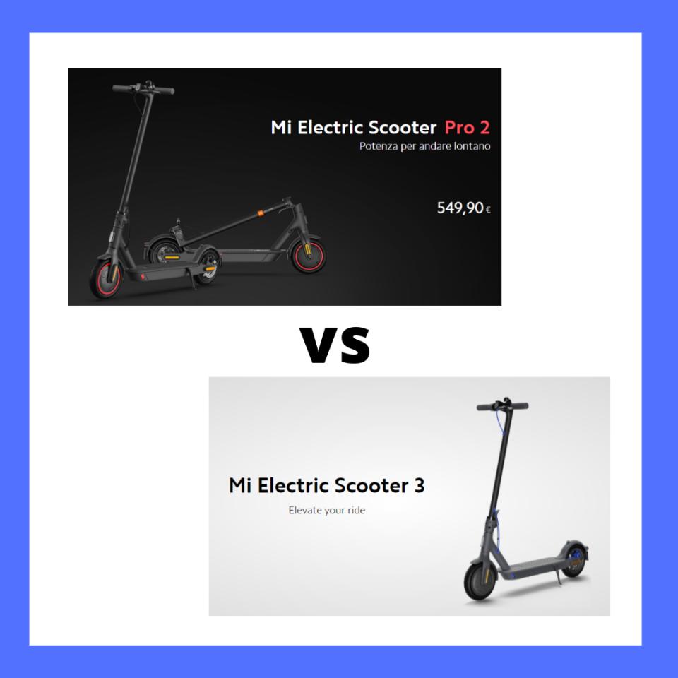 xiaomi scooter 3 vs xiaomi pro 2 confronto