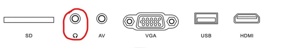 entrata jack audio proiettore per collegamento soundbar casse e speaker